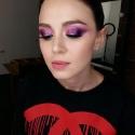 Красочный разноцветный макияж глаз