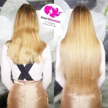 Наращивание волос. 200 прядей славянских волос длиной 65 см.