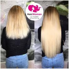 Волосы должны идеально подходить не только по цвету, но и по структуре. Идеальный пример.