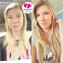 Забавная фотография. Наглядный пример того, как меняется образ, благодаря волосам! На фото топмастер Алиса.