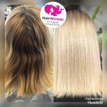 Окрашивание в Hairwoman! Наш главный стилист Марина создаст идеальный цвет и предложит лучший вариант к Вашему образу! Волосы идеально подобраны по структуре, что даже на отдыхе не нужно их укладывать - они стали полностью родными!