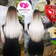 230 прядей шикарного блонда с затемненными кончиками! Стань красоткой с волосами от HairWoman!