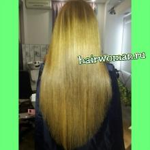 Кератиновое выпрямление волос в салоне красоты HairWoman